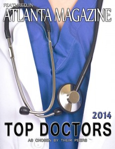 Top Doctor Award by Atlanta Magazine